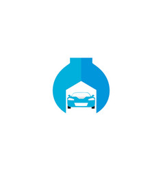 auto service isolated icon on white background a vector image