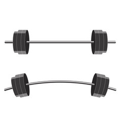 barbells isolated on white background vector image