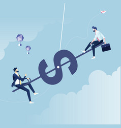 big and small business equilibrium vector image