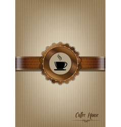 Brown coffee house menu design vector image
