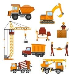 Building under construction workers vector