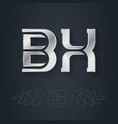 bx - initials or silver logo design element vector image