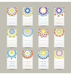 Calendar grid 2015 for your design floral vector