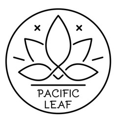 Cannabis pacific leaf logo outline style vector