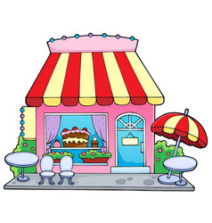 Cartoon candy store vector