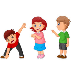 cartoon happy childrens vector image