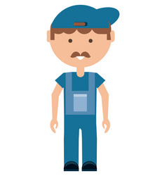 cartoon mechanic man icon vector image