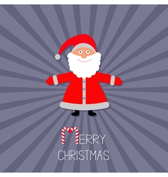 Cartoon Santa Claus Sunburst violet background vector