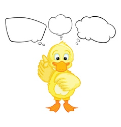 Cartoon Thinking Chick vector image