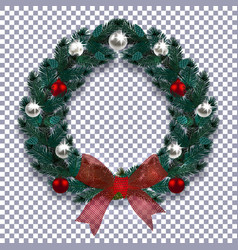 christmas new year blue branch of spruce in the vector image