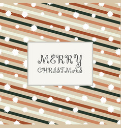 christmas of colorful retro stripe lines pattern vector image
