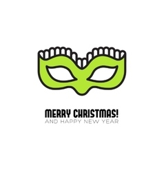 Christmas party mask flat icon vector