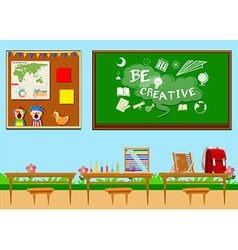 Classroom full of objects vector image