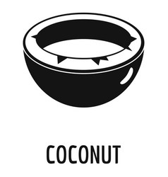 Coconut icon simple style vector