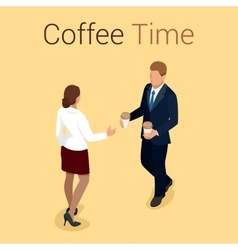 Coffee time or break group people chatting vector