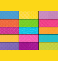 collection bright seamless colorful geometric vector image
