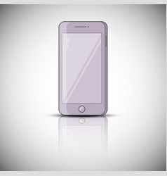 color realistic mobile phone smarphone vector image