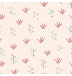 colorful seamless floral pattern - hand drawn vector image
