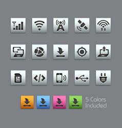 Connectivity icons - satinbox series vector