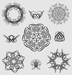 Creative design elements and ornaments vector image