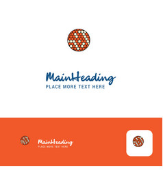creative golfball logo design flat color logo vector image