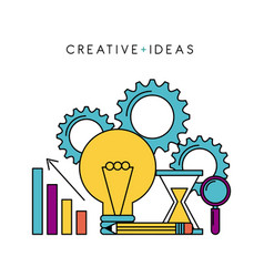 creative ideas business knowledge work solution vector image