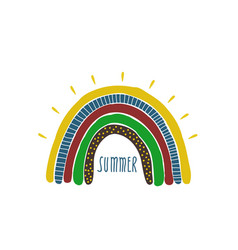 Creative rainbow in hand drawn style vector
