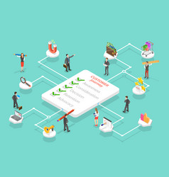 customer journey map user buying process store vector image