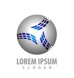 digital sphere logo concept design symbol graphic vector image