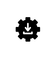 Download icon with glyph style download manager vector