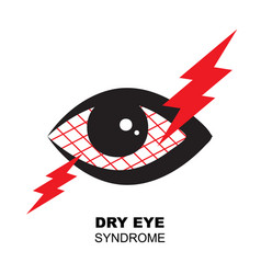 dry eye syndrome icon tired sleepy eye symbol vector image