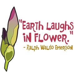 Earth Laughs in Flower vector