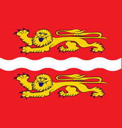 Flag seine-maritime in normandy is a region of vector