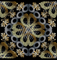 floral greek seamless pattern abstract vector image
