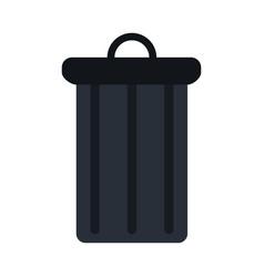 garbage trash can vector image