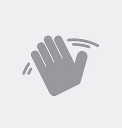 Hand gesture in greeting vector