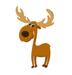 Happy cartoon moose vector