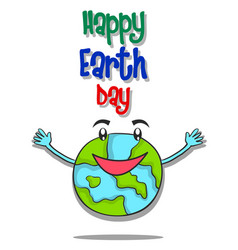 happy earth day design style vector image