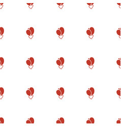heart balloons icon pattern seamless white vector image