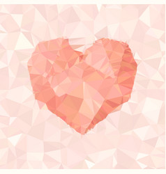 Heart triangular low poly mosaic abstract pattern vector