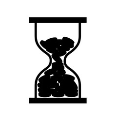 hourglass with coins icon vector image