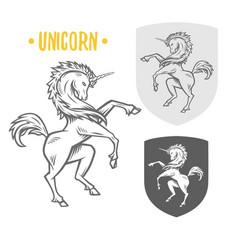 image of heraldic unicorn vector image