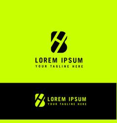 Initial h b minimalist modern logo identity vector