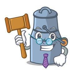judge milk can mascot cartoon vector image