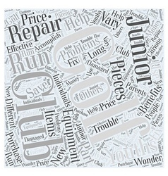 Junior Golf Club Repair Equipment Word Cloud vector
