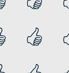 Like sign icon Thumb up symbol Hand finger-up vector image
