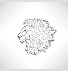 lion head african animal lion profile isolated vector image