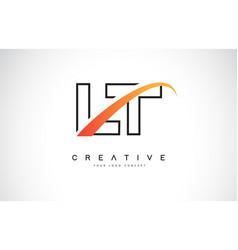 lt l t swoosh letter logo design with modern vector image