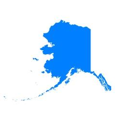 Map of Alaska vector image