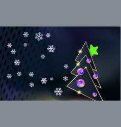 merry christmas dark modern background with gray vector image